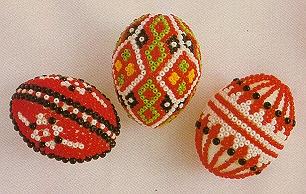 gyöngyrátétes tojások